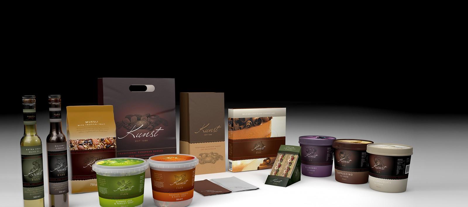 Brand identity design for Kunst