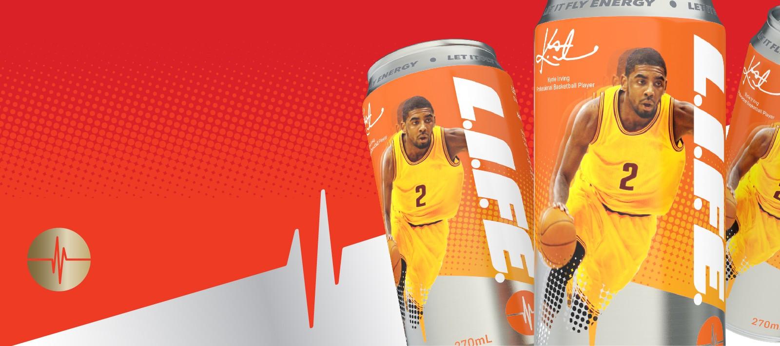 Beverage brand identity design for energy drink