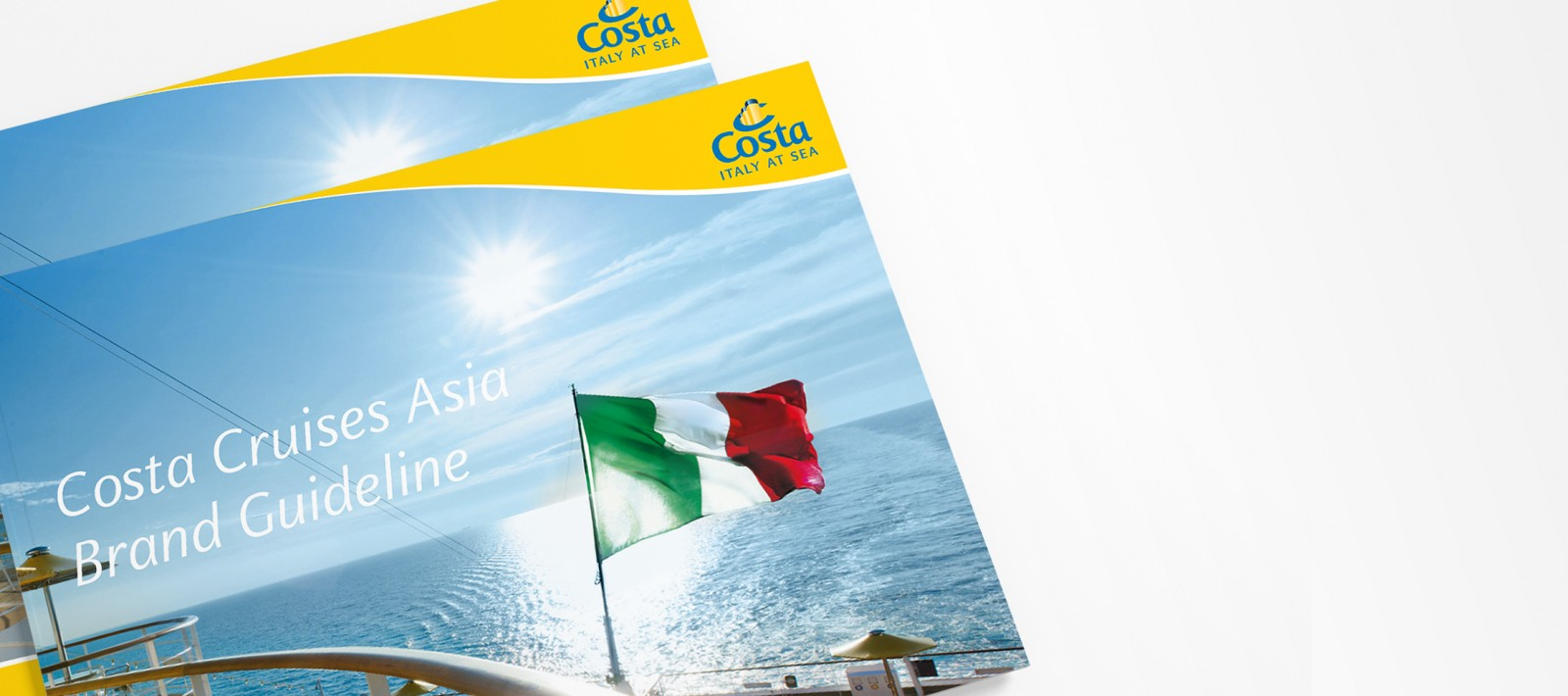 Brand book design for Costa crusies