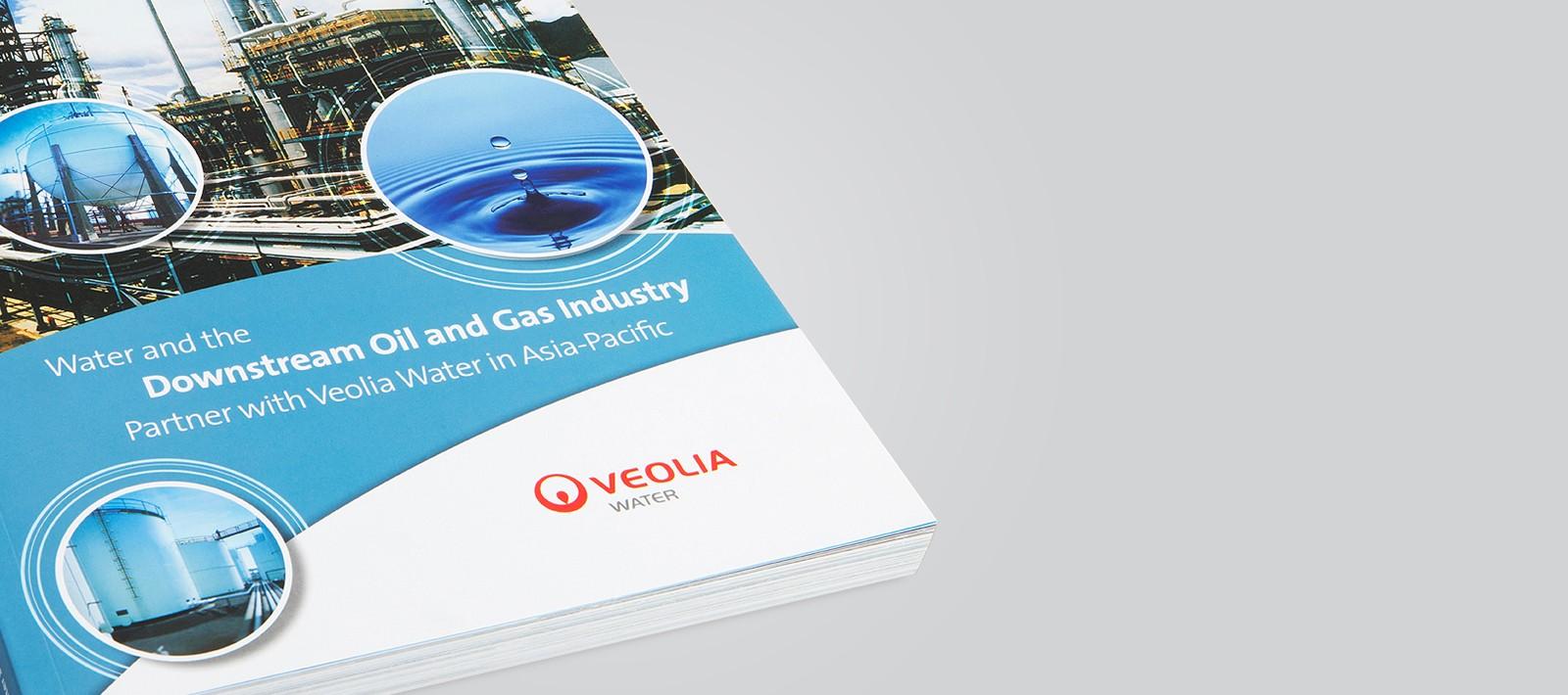 Brochure design for Veolia