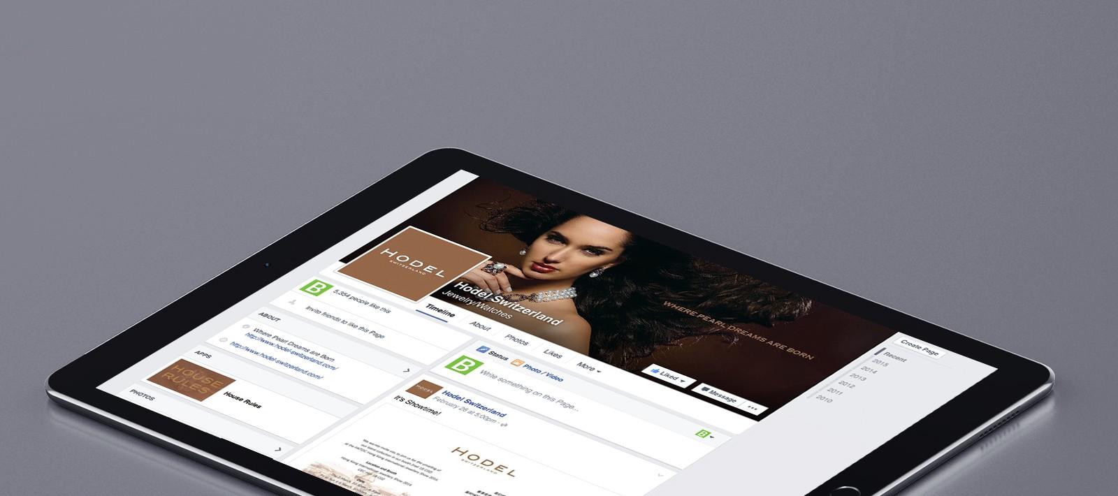 Hodel jewellery social media marketing