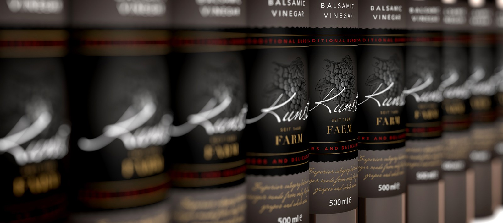 Food and beverage packaging design for Kunst