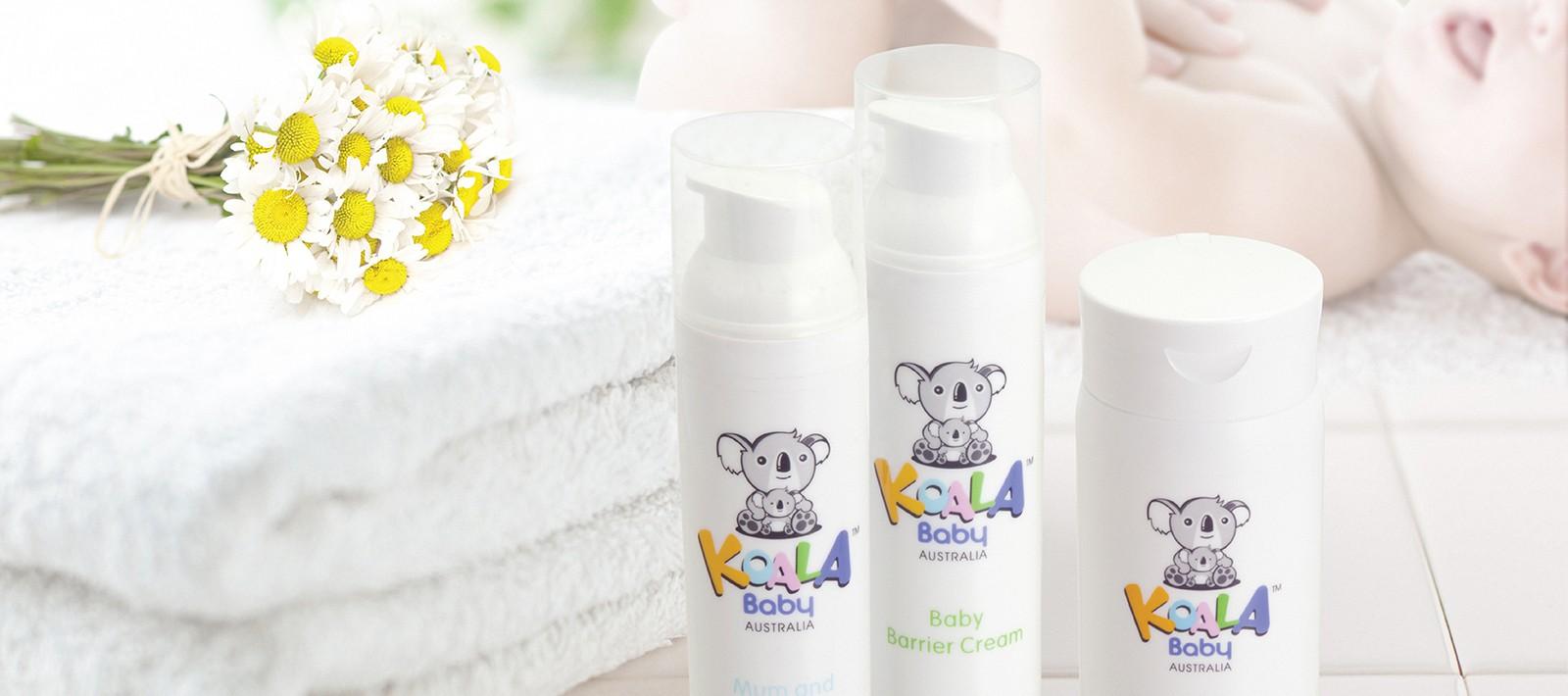 Skincare packaging design for Koala Baby