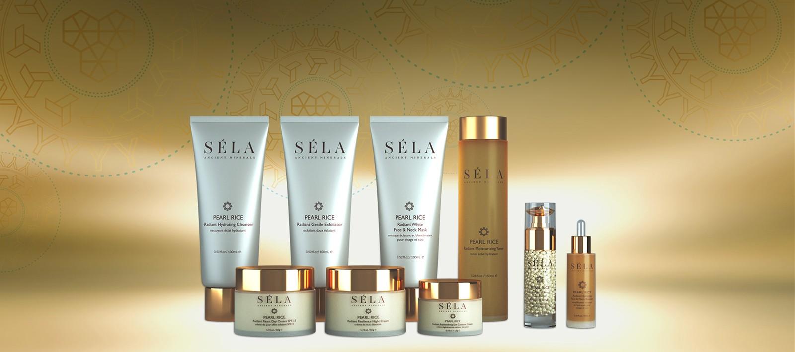 Skincare packaging design for Sela